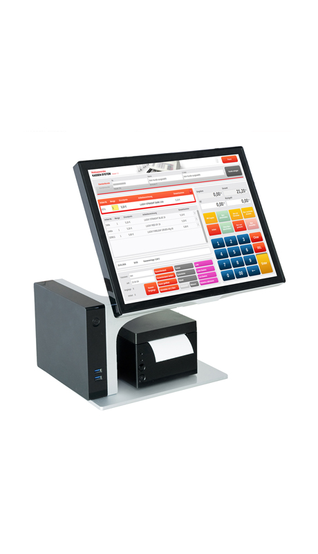 Designer cash register and accessories. Available in 7 different colors.